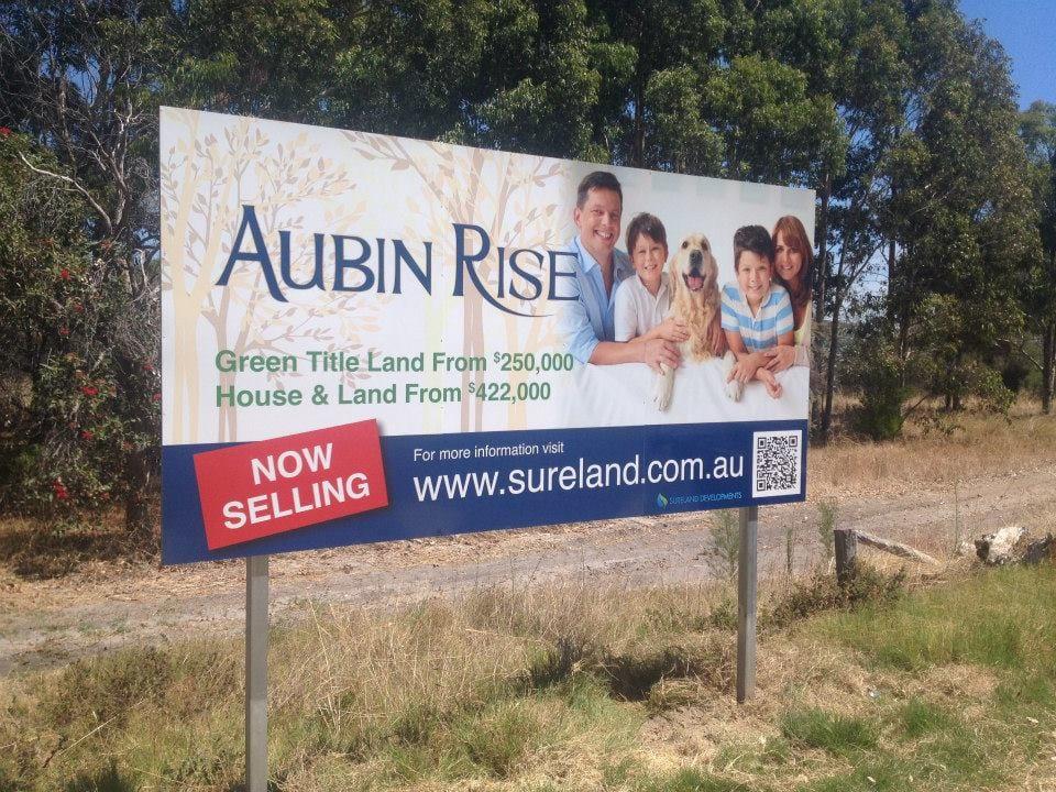 Aubin Rise Large Sign
